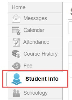 Student Info Selection